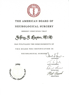 Dr-Larson-Board-Certification